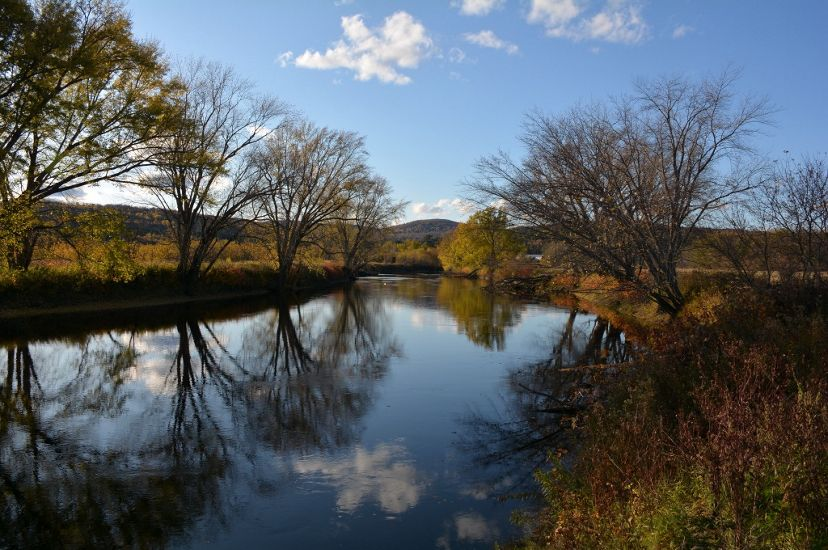 Fall descends upon New England's longest river.