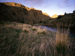 (ALL RIGHTS) Late afternoon light sculpts the canyon walls in this view of Phantom canyon and the north fork of the Cache la Poudre river that flows through the Laramie foothills in northeast Colorado. Photo credit: © John Fielder/TNC