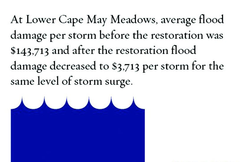 Infographic of Cape May flood damage.
