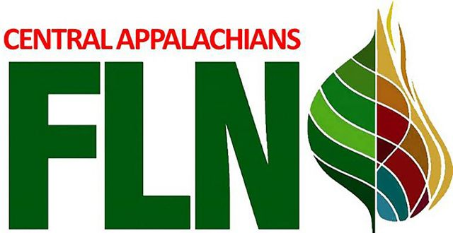 Logo of the Central Appalachians Fire Learning Network. The letters F-L-N are prominently featured next to a multicolored leaf graphic.