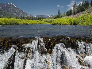 Fresh water flows through the mountains of central Idaho