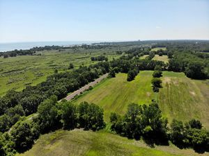 Overhead view of restoration at Chiwaukee Prairie