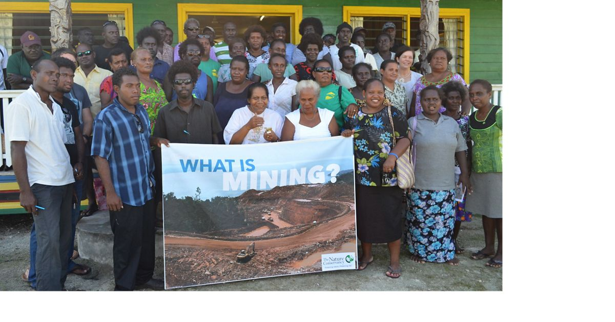 TNC works across the Solomon Islands to inform local communities about what mining development could mean for them.