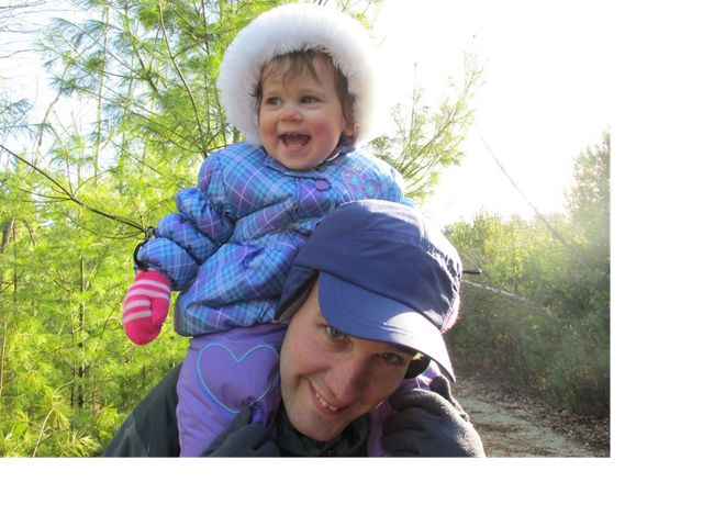 Indiana Chapter forester Chris Neggers and daughter Diana, 2014.