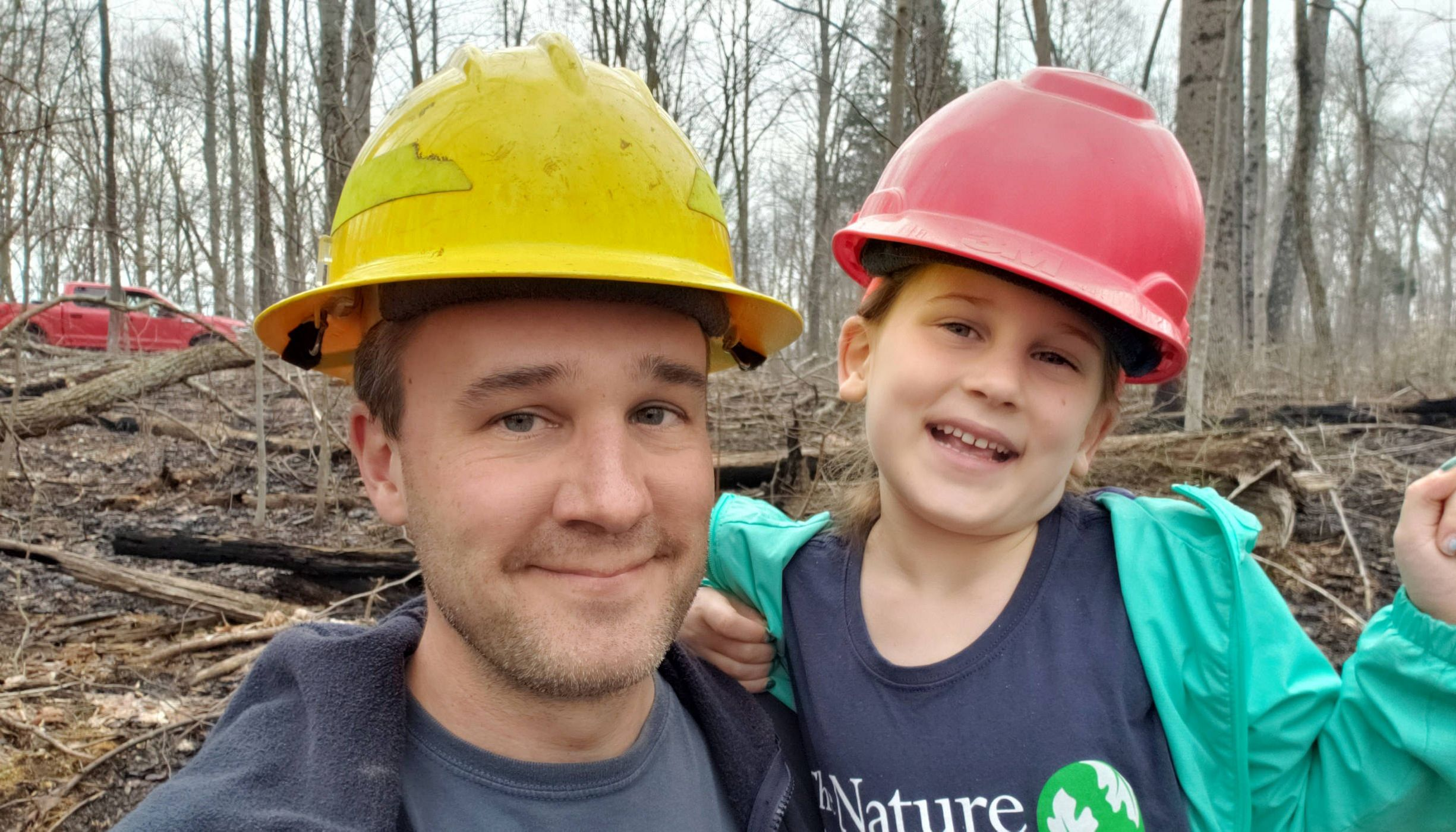 Indiana Chapter forester Chris Neggers and daughter Diana, 2019.