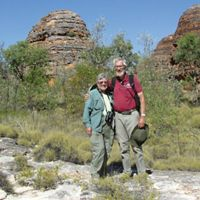 Chris and Kate Mathews at The Bungle Bungles National Park in Australia