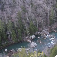 View into Clear Creek from high atop the preserve.