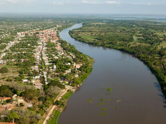 Aerial view of the town of Mompox, Bolivar. Photo credit: © Juan Arredondo