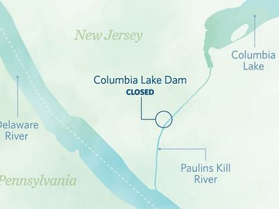 Former site of the Columbia Lake Dam