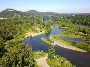 Willamette Confluence Oregon Aerial