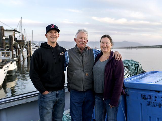Bill Blue, a participating fisherman of the CGC, out of Morro Bay with family members.