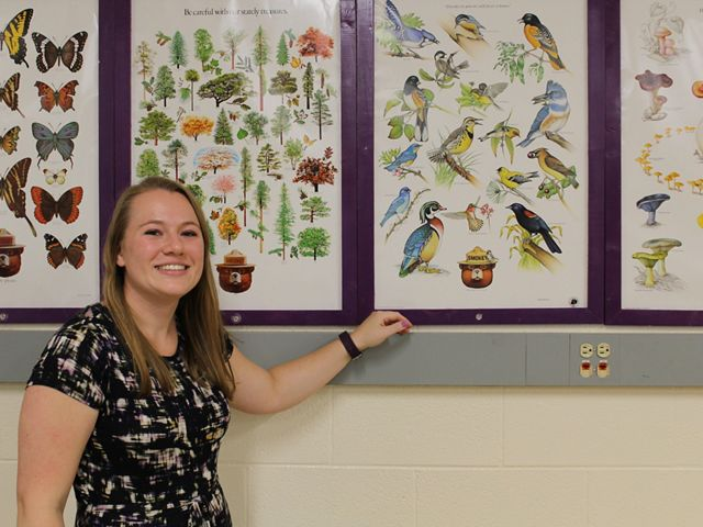 Today, former intern Corinne is a science teacher who uses nature as an outdoor laboratory and encourages her students to apply for Nature Conservancy internships.