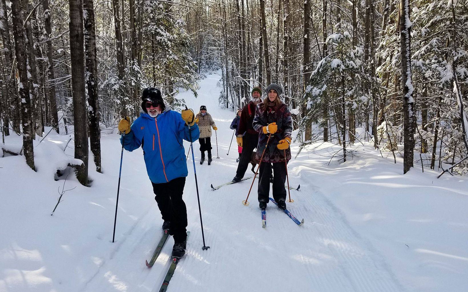 The Catherine Wolter Wilderness Area is a fun place for winter cross-country skiing.