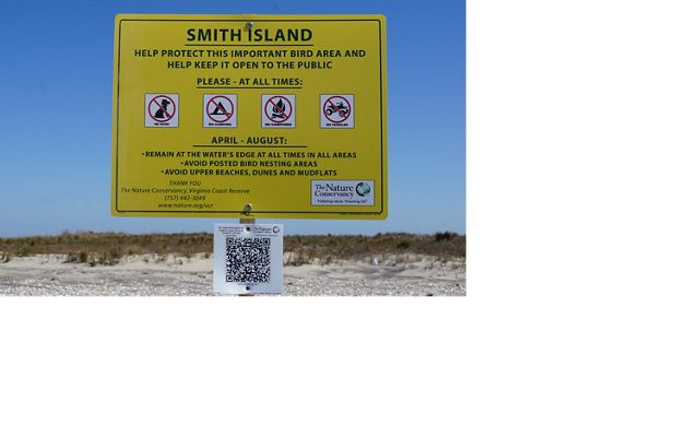 Signs are posted on VCR's barrier islands during prime bird nesting season from April through August.