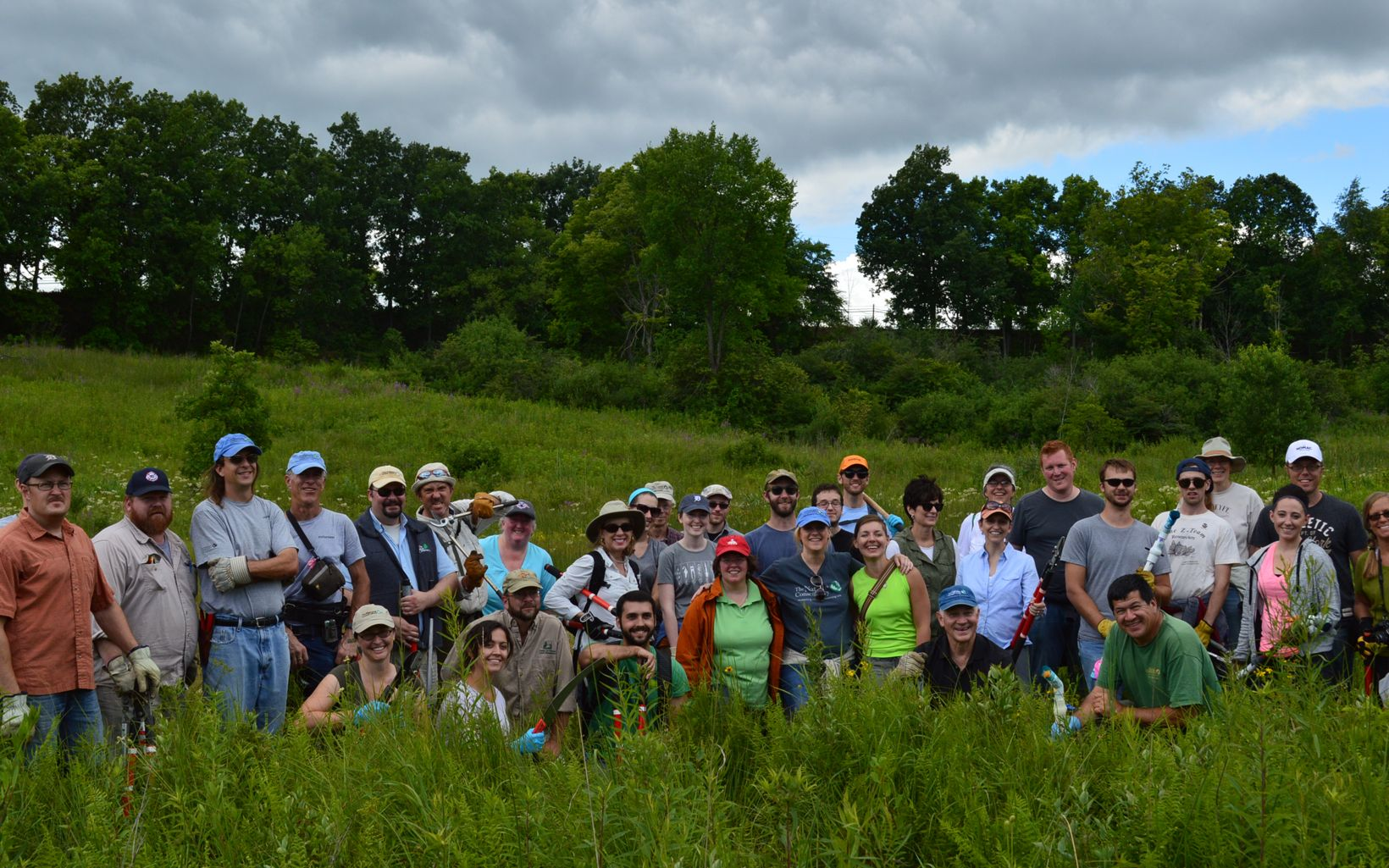 Michigan Chapter staff at an Ives Road Fen Preserve workday.