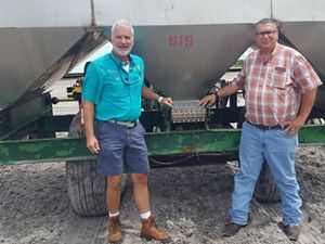 TNC's David Royal and cabbage farmer Robert Sam