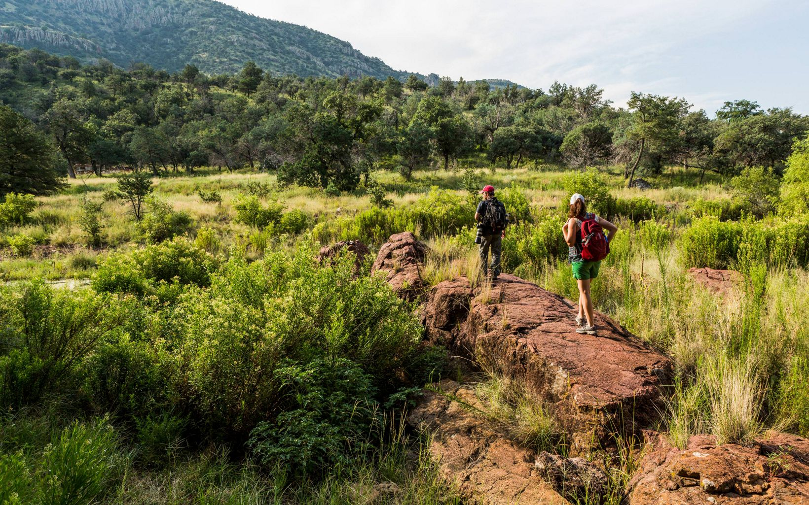 Hikers explore Davis Mountains Preserve