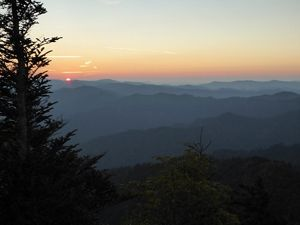 Sunrise from Mount LeConte in the Great Smoky Mountains National Park.