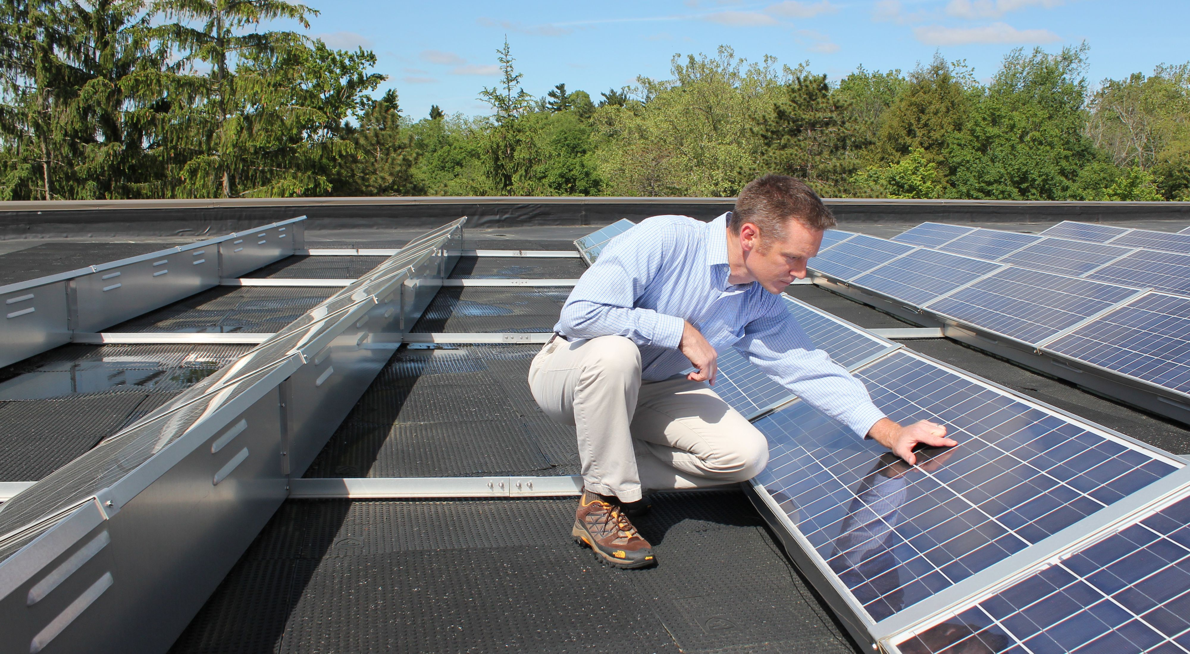 Solar panels at Denison University