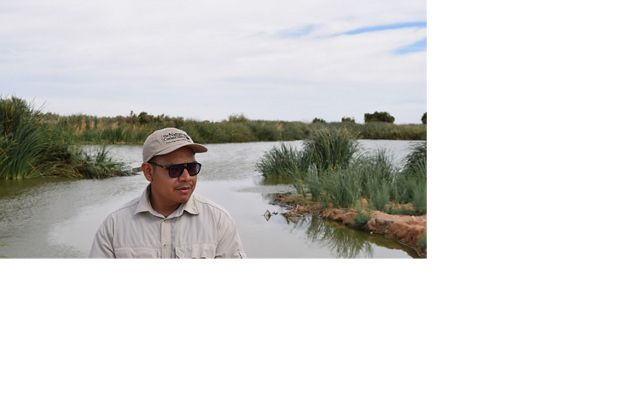 Edgar Carrera at the Las Arenitas wetland.