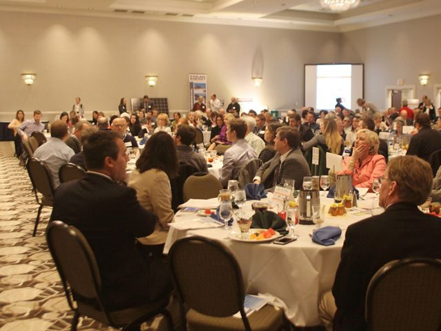 Members of the Granite State business community gathered at the yearly NH Energy Breakfast.