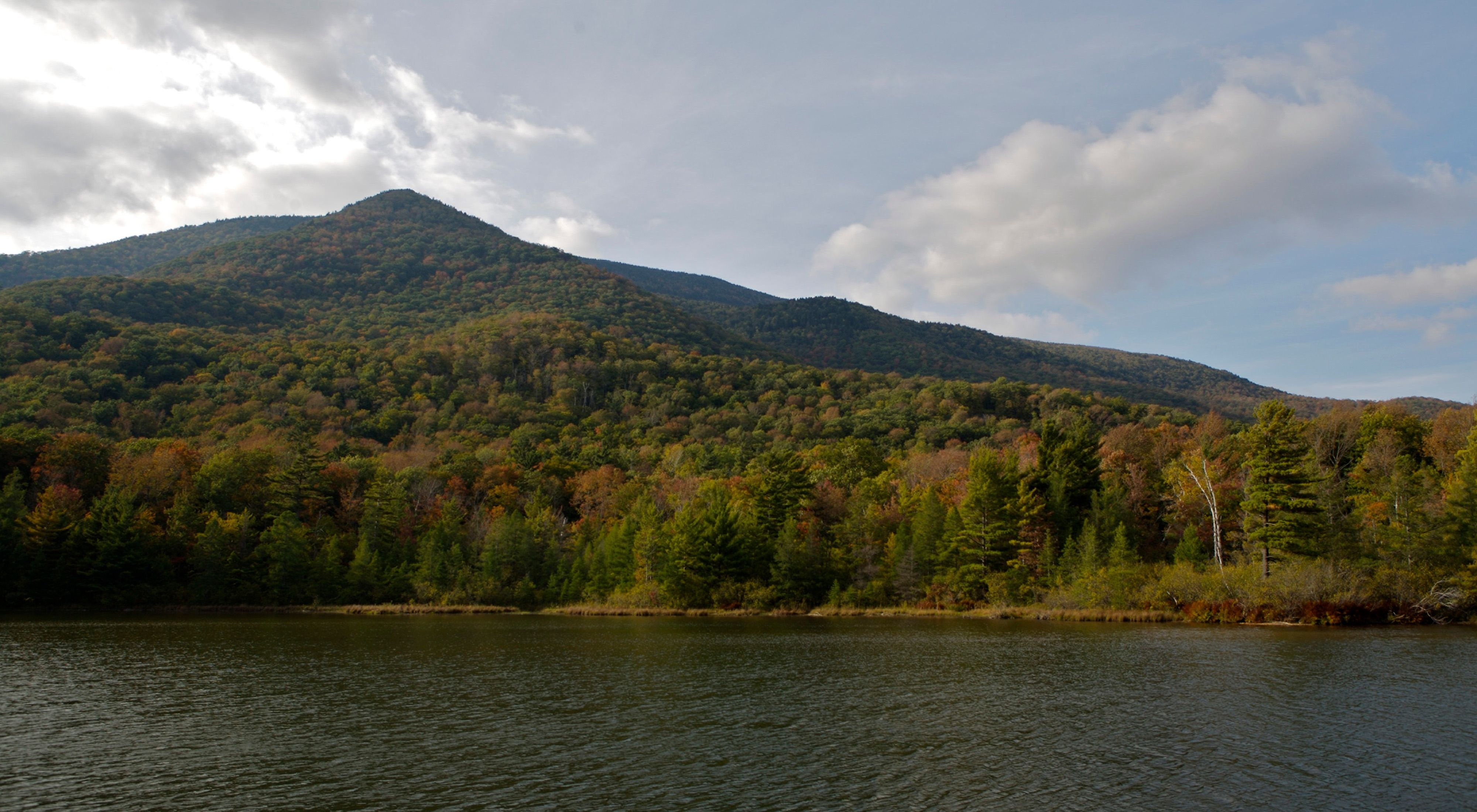View of Vermont's Mount Equinox during Fall.