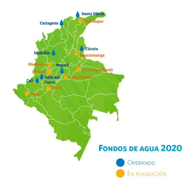 Ya se protegen siete cuencas de gran importancia para el país, y se busca crear ocho fondos de agua más a 2023.