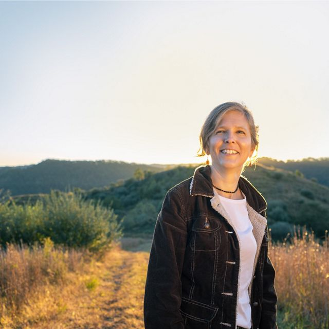 Beth Wheatley, The Nature Conservancy's director of External Affairs for the West Virginia Chapter, stands in the Tomblin Wildlife Management Area, West Virginia.