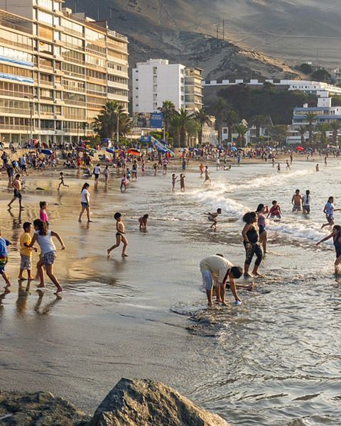 Ancon is a popular weekend and summer beach spot  for people who live in Lima, about 30 miles away.