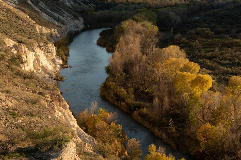 Sunset over the Verde River