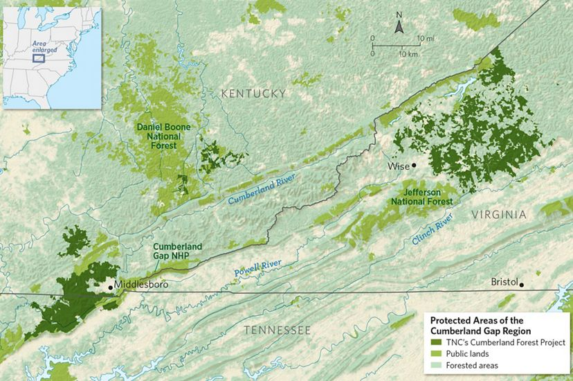 Cumberland Forest project map