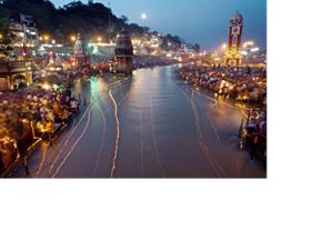 The Ganges River at night