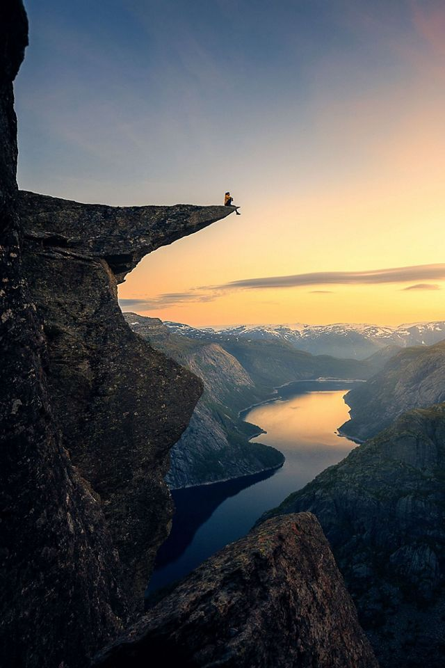 Trolltunga rock formation in Røldal, Norway
