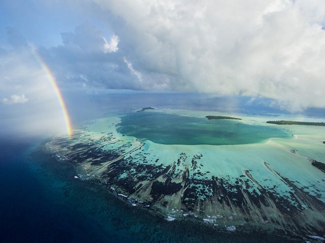 St. Joseph Atoll, part of Seychelles' Amirante island group, was once the site of a coconut plantation. Today it is a marine reserve renowned for its fish and seabirds.