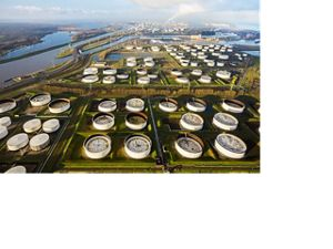 Petroleum storage at the port in Rotterdam