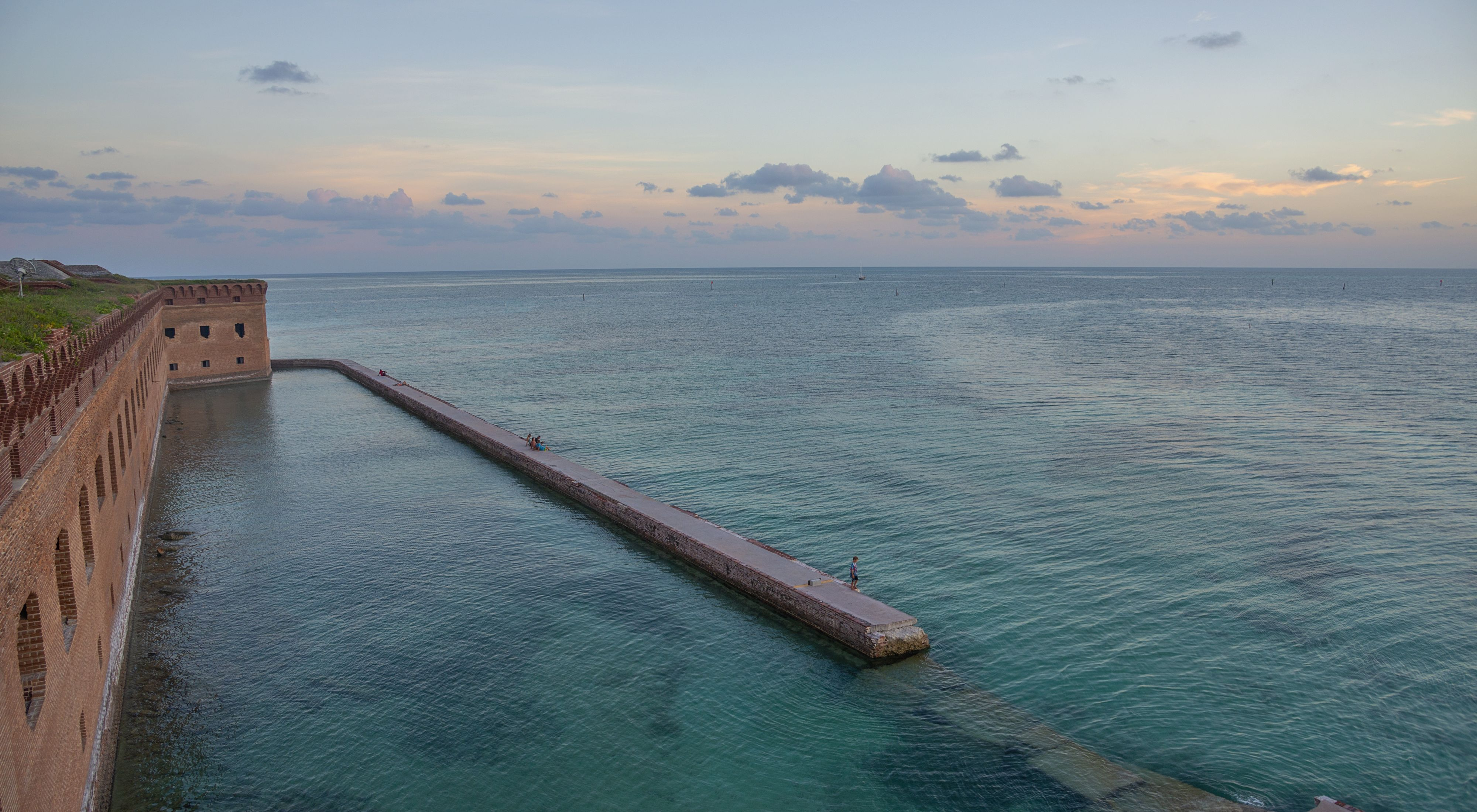 about 75 miles from Key West, inside Dry Tortugas National Park.