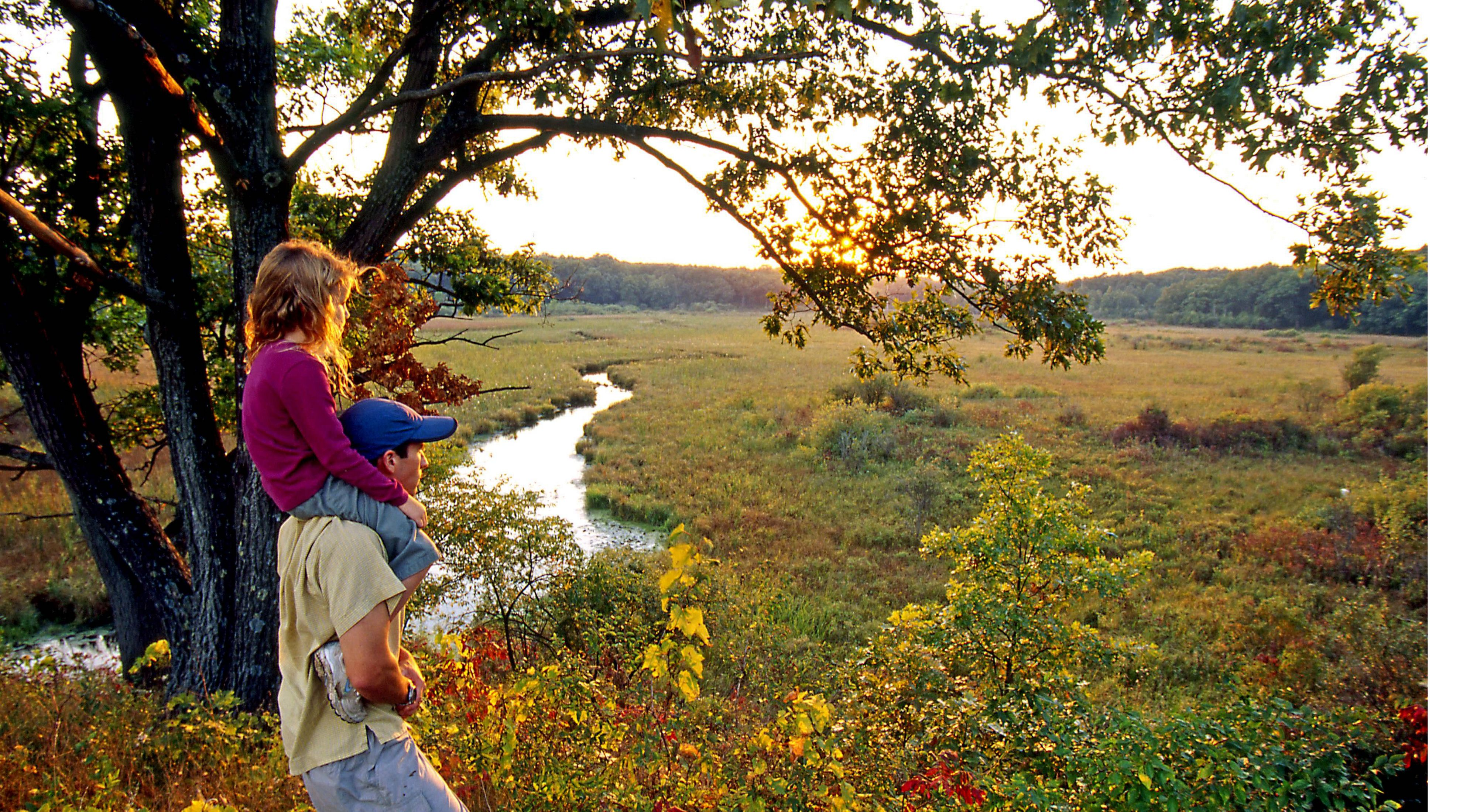The Mukwonago River, also called Crooked Creek, winds among wetlands, prairies and savannas found at preserves like the Lulu Lake Preserve.