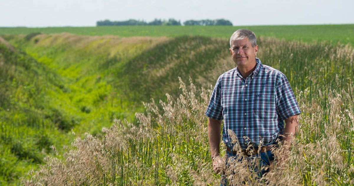Tim Smith grows soybeans and corn using climate-friendly techniques.