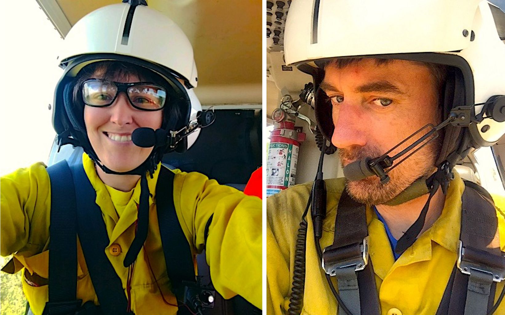TNC's Nikole Simmons and Sam Lindblom snap selfies from the air.