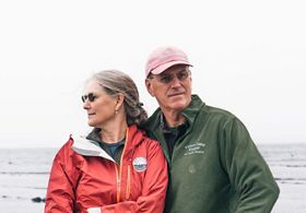 Steve and Sarah Malinowski, owners of Fishers Island Oyster Farm.