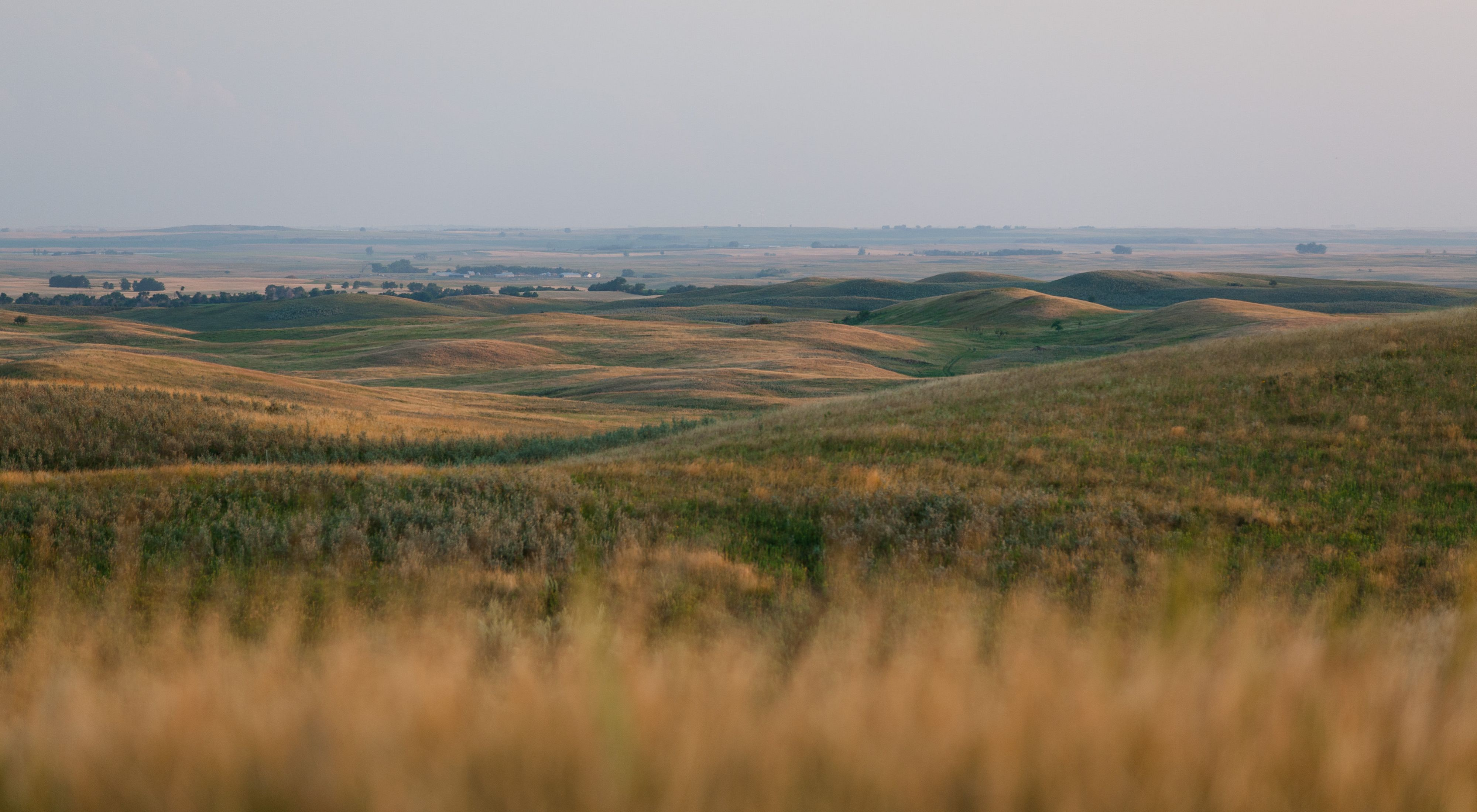 Landscape view of Davis Ranch in North Dakota
