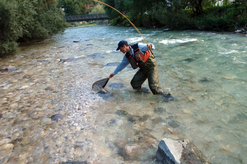 Barrier removal projects can help increase the catch rate for recreational anglers, like this one on the Savinja River in Slovenia.
