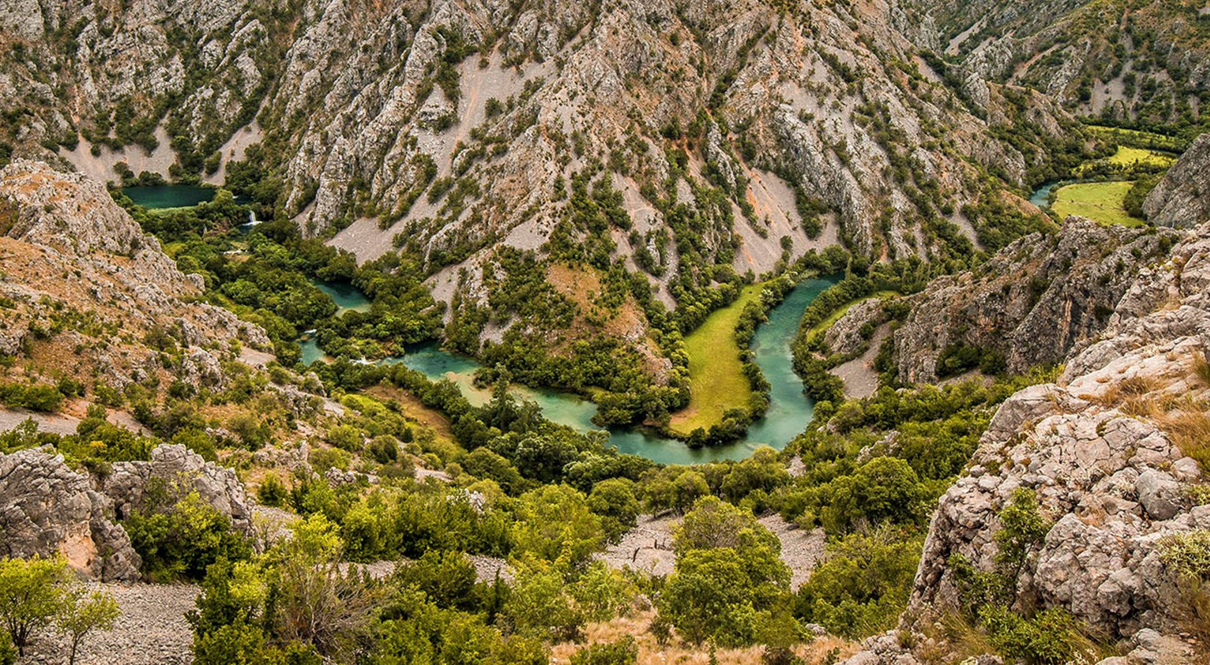 The winding Krupa River makes its way through Croatia.