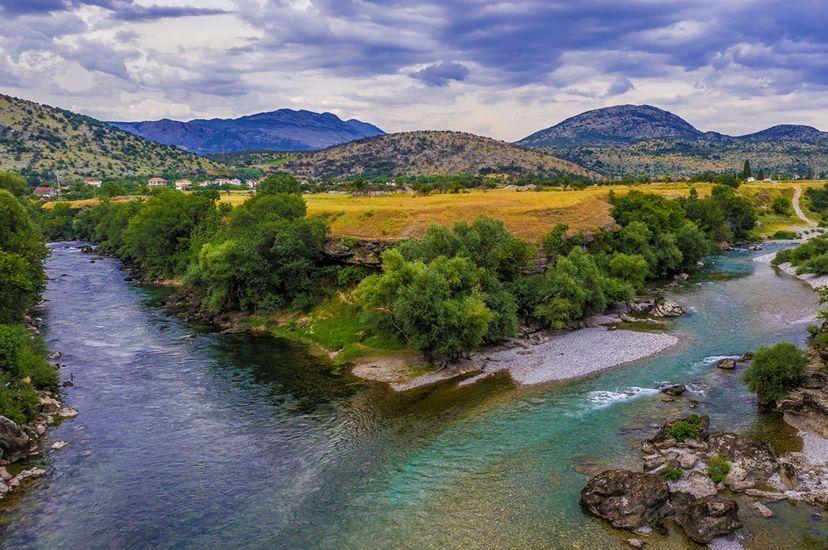 The Morača and Zeta rivers meet in Montenegro.