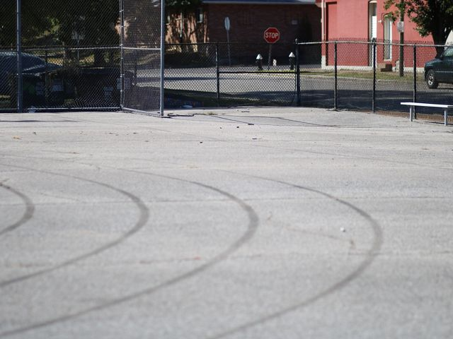 A large paved surface.