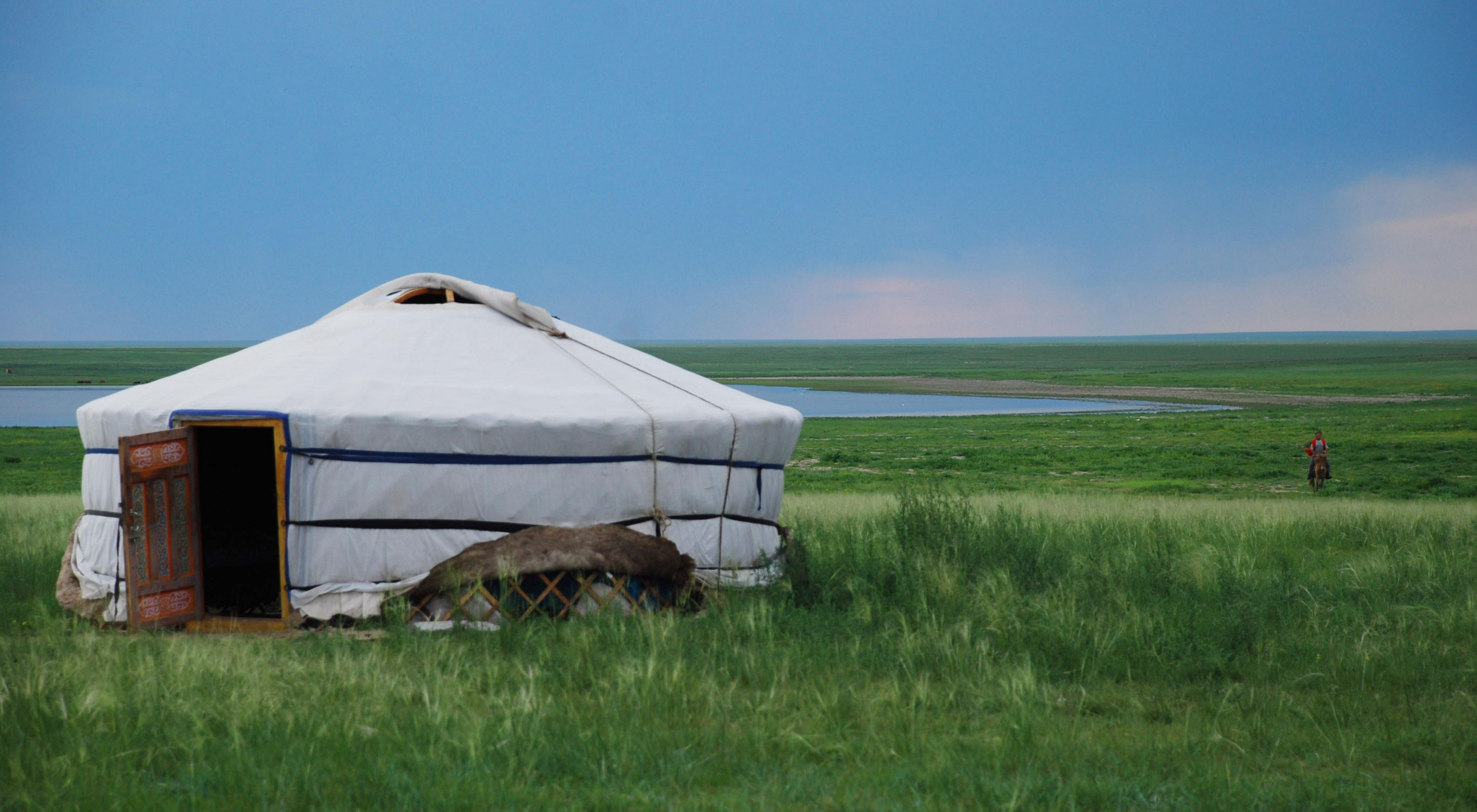 Yurts, called gers in Mongolia, are traditionally used by nomads on the steppes of Central Asia.