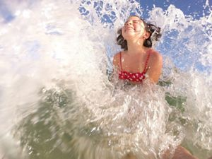 Girl splashing