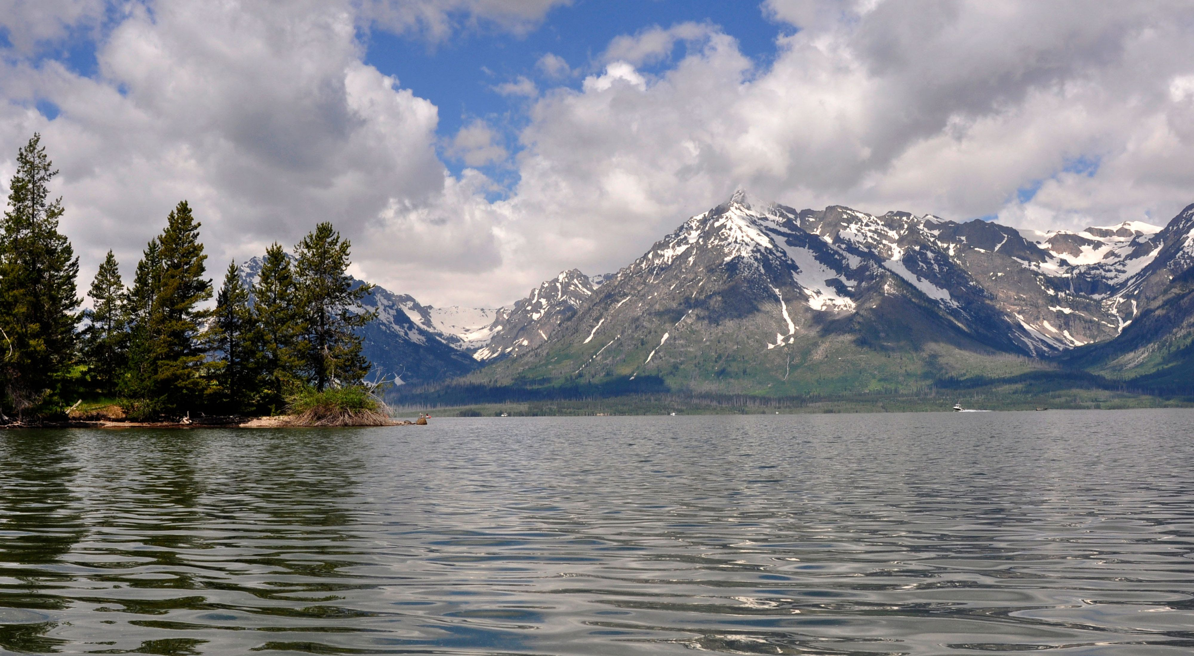 Jackson Lake in Grand Teton National Park.