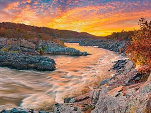 Sunrise over Great Falls.