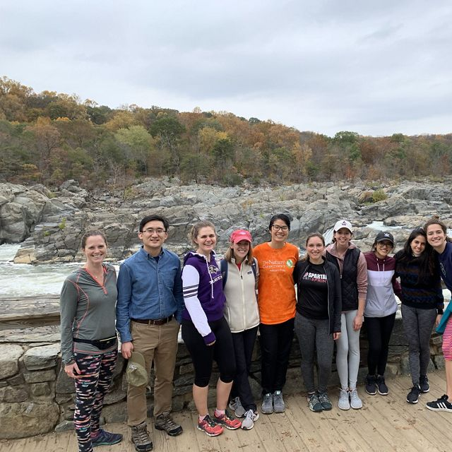 Young Emerging Professionals went on a group trip to visit Great Falls National Park.